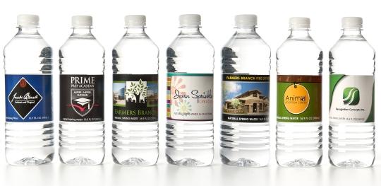 Custom printed bottle water labels